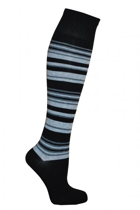 Дамски 3/4 шарени памучни чорапи