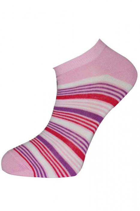 Дамски шарени бамбук чорапи за маратонка - терлик