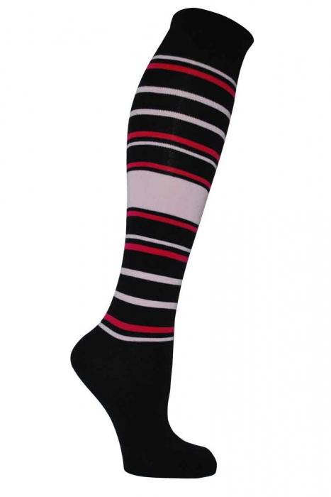 Дамски шарени 3/4 бамбук чорапи