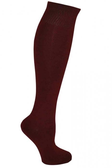 Дамски едноцветни 3/4 бамбук чорапи
