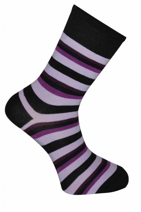 Дамски класически шарени бамбук чорапи