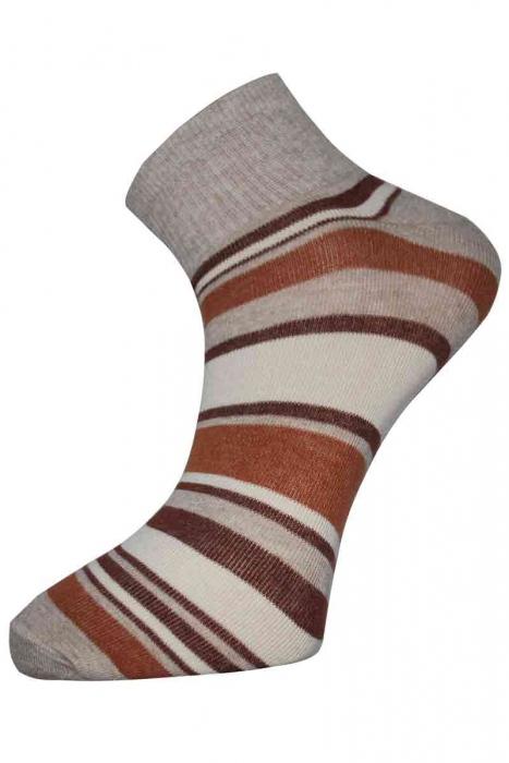 Шарени Дамски памучни чорапи къс конч