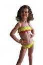 Детски Бански бандо с ресни и бикини с връзки 1115