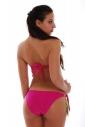 Двулицев бански костюм бандо с подплънка и бикина с пандела 1188