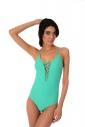 Едноцветен цял дамски бански костюм 1187